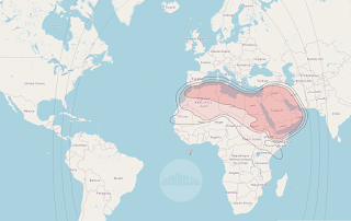Footprints and Beam Coverage Satellite Nilesat 201 7.0°W KU Band