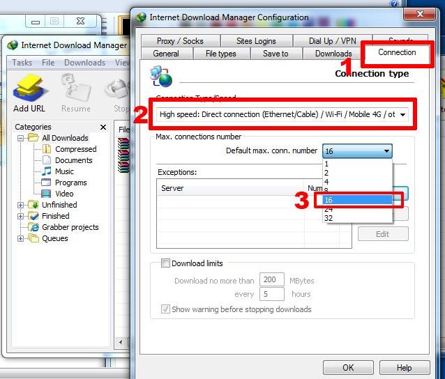Hướng dẫn cài đặt để tăng tốc độ download tối đã của IDM