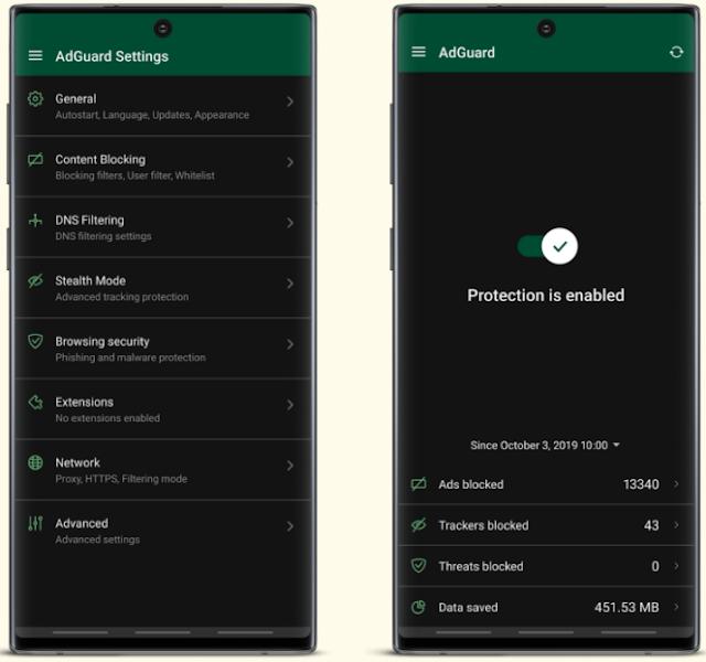 تحميل تطبيق Adguard عملاق منع الاعلانات للاندرويد بدون روت احدث اصدار نسخة مفعله