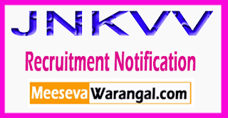 JNKVV Jawaharlal Nehru Krishi Vishwa Vidyalaya Recruitment Notification 2017 Last Date 28-07-2017