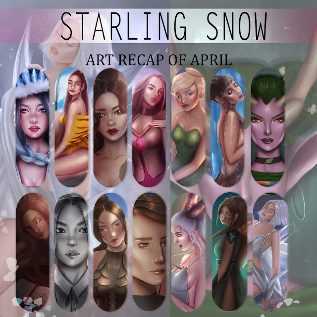 My Art Recap of April | Digital Paintings