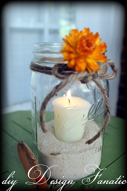 mason jar candle, stool, cottage, cottage style, farmhouse, farmhouse style, diyDesignFanatic.com