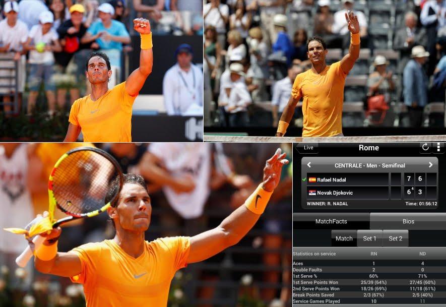 Tennis Roma: Nadal batte Djokovic e giocherà la finale contro Zverev