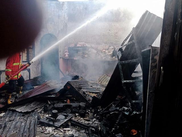 Satu Unit Rumah di Kisaran Hangus Terbakar