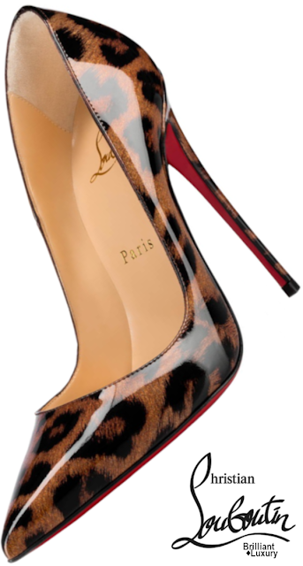 Brilliant Luxury♦Christian Louboutin So Kate Patent Glitter Leopard-Printed Stiletto Heel #shoes #pumps