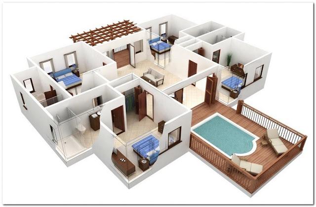 gambar denah rumah sederhana