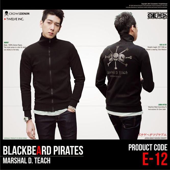 limited shoping jaket anime onepiece blackbeard pirates e12