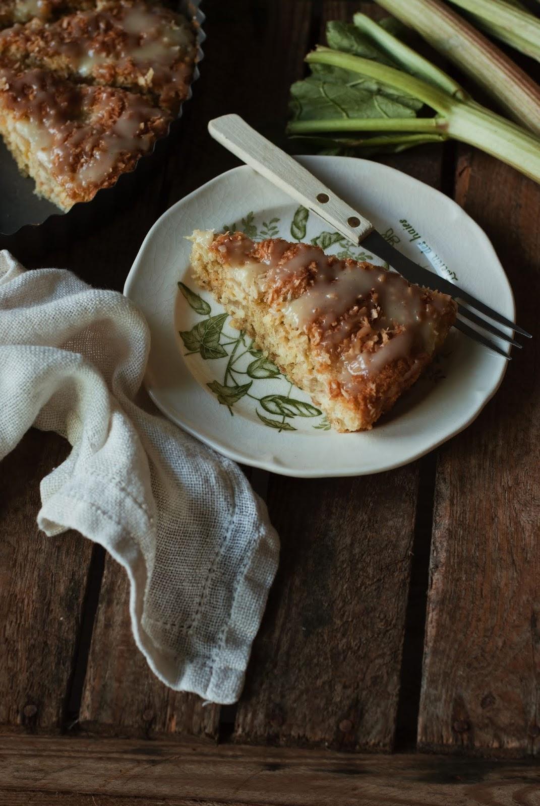 Ciasto kokosowe z rabarbarem