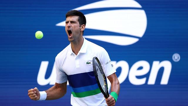 Djokovic vibra em ponto conquistado na vitória sobre Nishikori no US Open