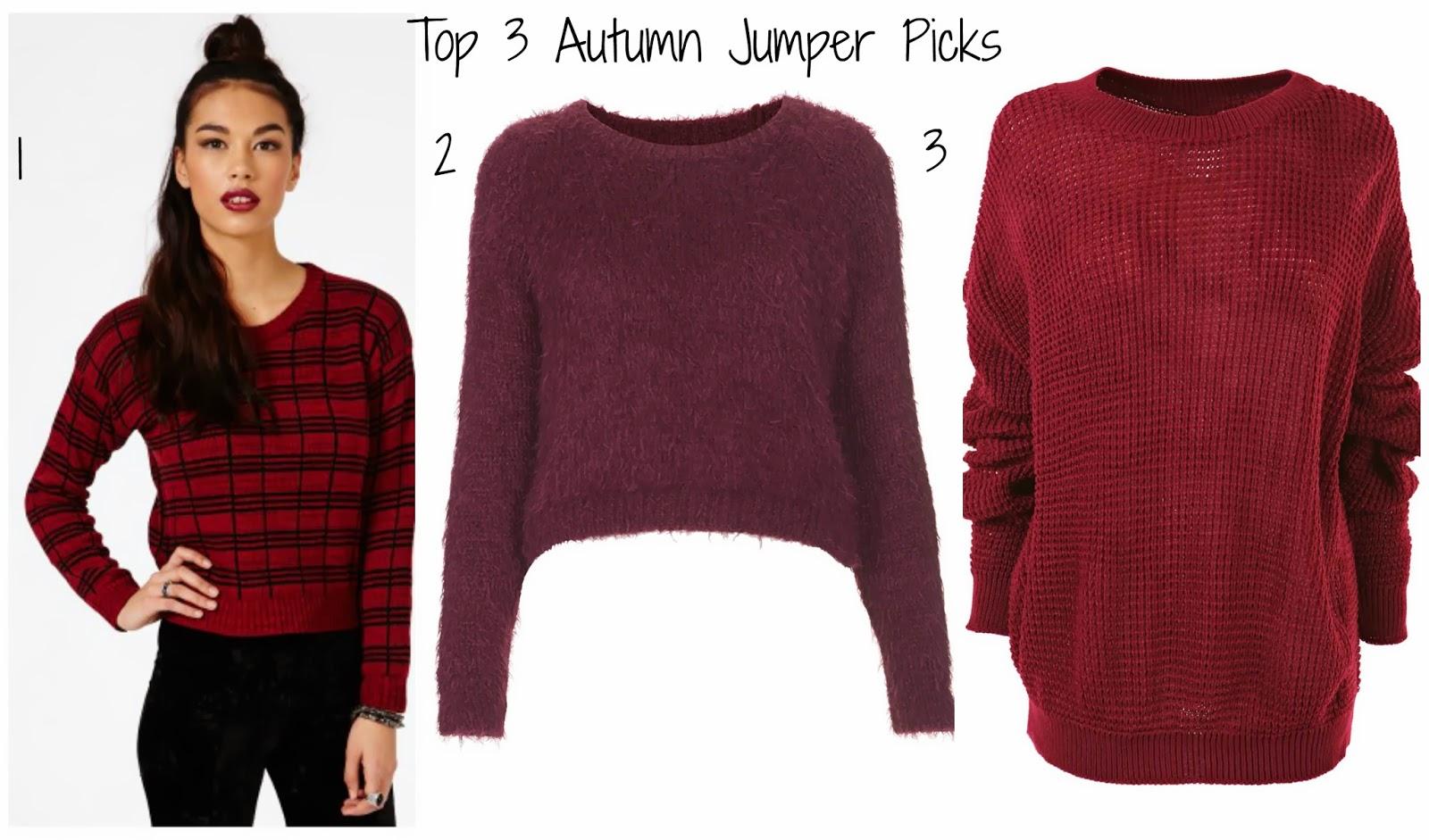 Top 3 Autumn Jumper Picks