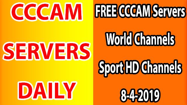 FREE CCCAM Servers World Channels +Sport HD Channels 8-4-2019