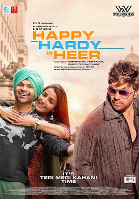 Happy Hardy and Heer (2020) Hindi 720p HDRip ESub x265 HEVC 600Mb