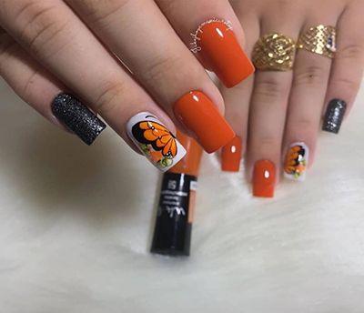 unhas decoradas laranja 6