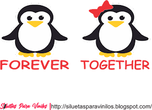 Forever Together Pinguinos Vector Free