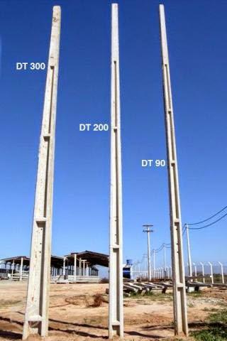 Poste de Concreto duplo T - 300 dan R$ 1.050,00.