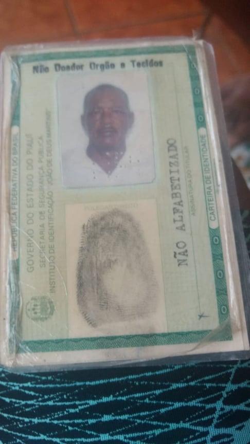 """PERDA: Lavrador José Gomes, o """"Zezão"""", morador do Santa Clara em Elesbão Veloso falece aos 79 anos, após lutar contra câncer nos pulmões."""