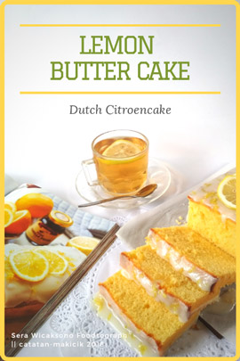 Resep Lemon Butter Cake Holland | Dutch Citroencake