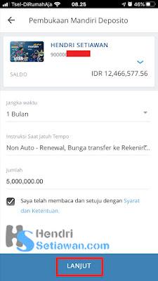Cara Mudah Buka Deposito Via Mobile Banking Mandiri Online