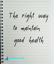 The right way to maintain good health