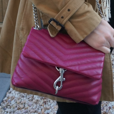 Rebecca Minkoff Edie small crossbody bag in magenta | awayfromtheblue