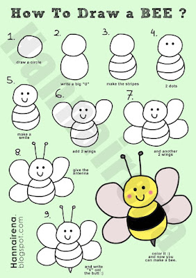 How to draw easy bee?