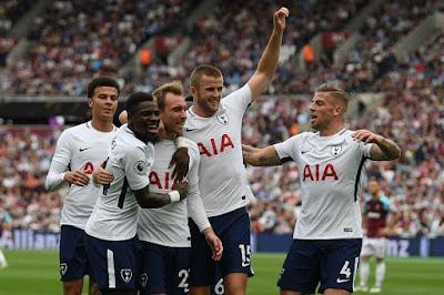 Video Cuplikan Gol: West Ham United 2-3 Tottenham Hotspur (Premier League)