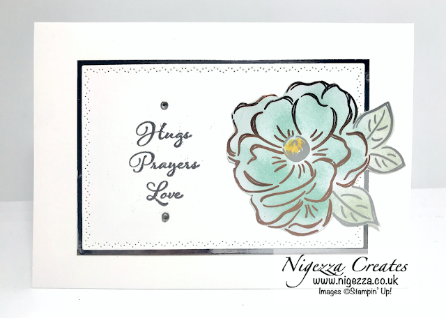 Nigezza Creates with Stampin' Up! Flowering Foils Positive Thoughts Card #2
