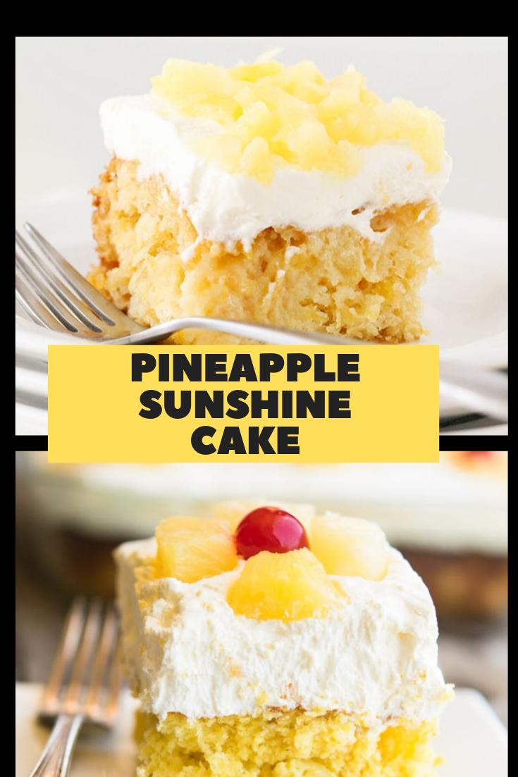 #PINEAPPLE #SUNSHINE #CAKE #Dessert #Easyrecipe