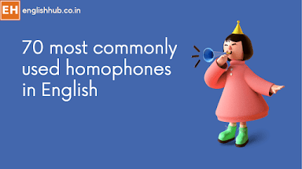 70 most commonly used homophones in English