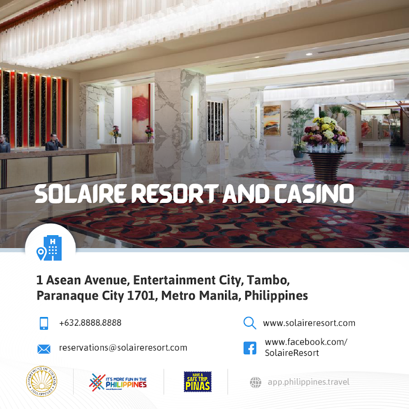 Solaire Hotel Resort and Casino New Normal Hotels in Metro Manila DOT-Accredited Hotels