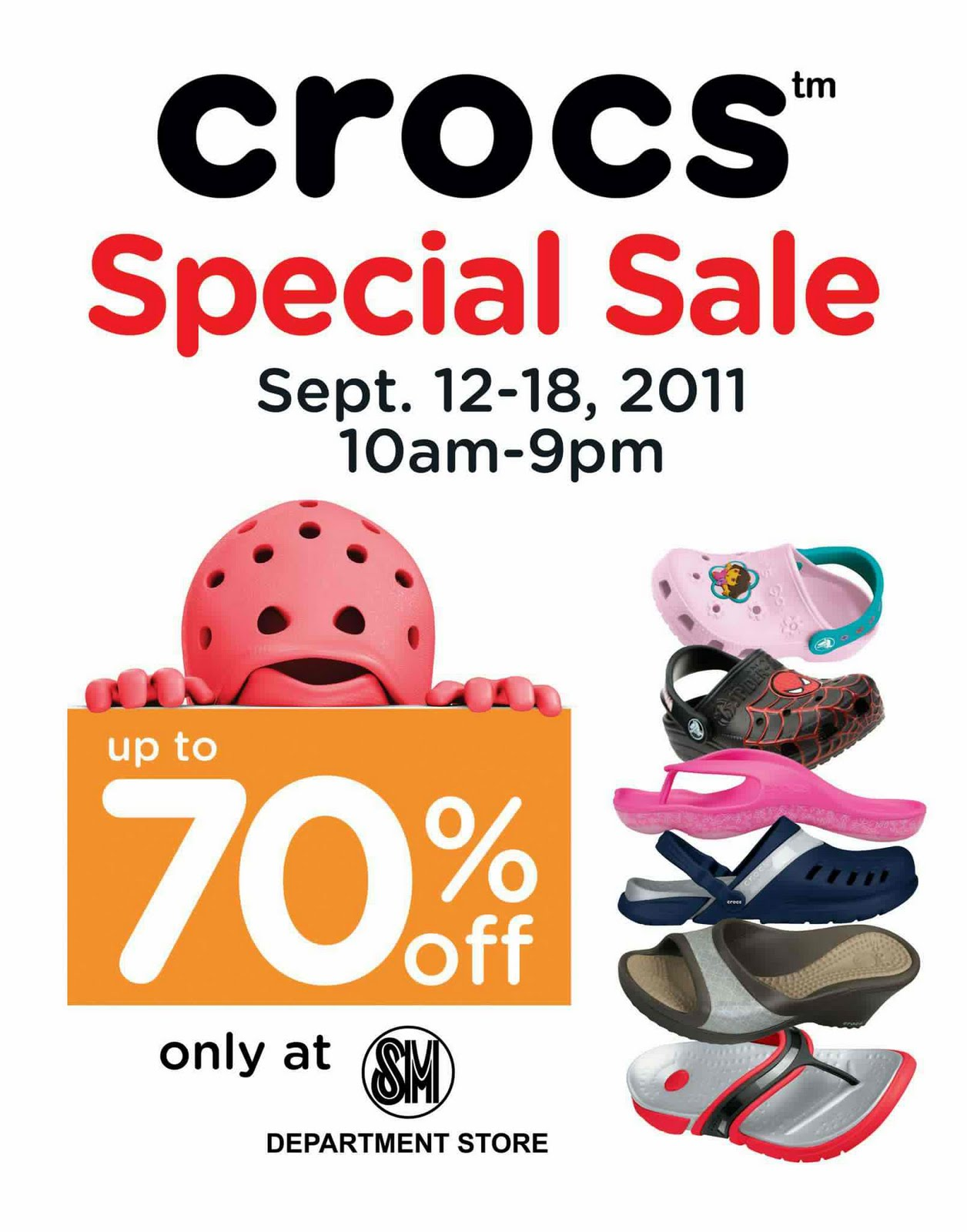 e6ed89dbd5bf32 Manila Shopper  Crocs Sale at SM Lucena