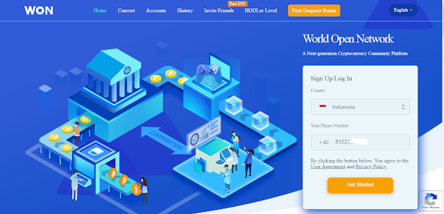 Cara Mendapatkan Dollar Gratis 101 USD dari Situs WON