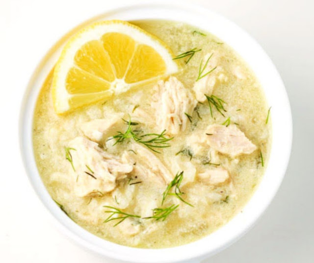 Greek Lemon Rice And Chicken Soup