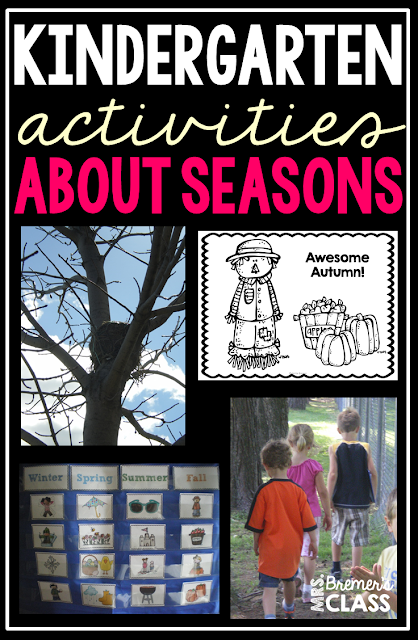 Activities to teach about the four seasons in Kindergarten