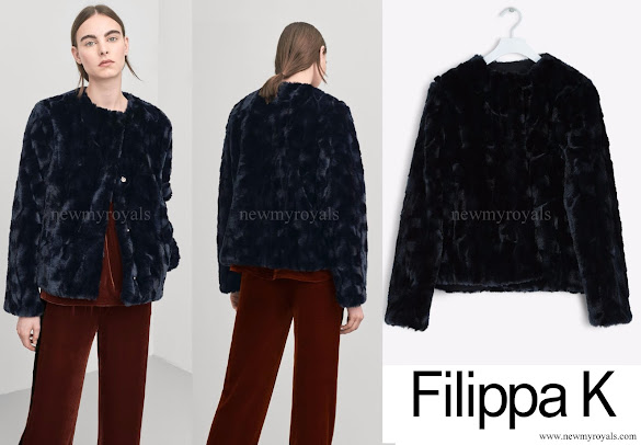 Crown Princess Victoria wore Filippa K Faux Fur Jacket