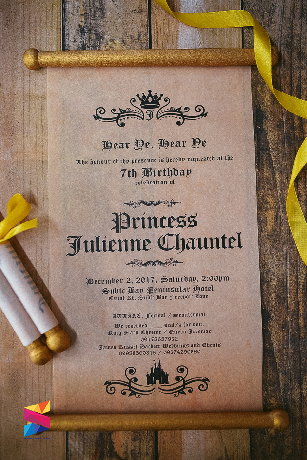 Royal Ball Scroll Type Birthday Invitation - Stunro CreativeWorks
