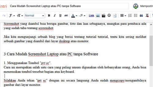 Cara Mudah Screenshot Laptop atau PC tanpa Software
