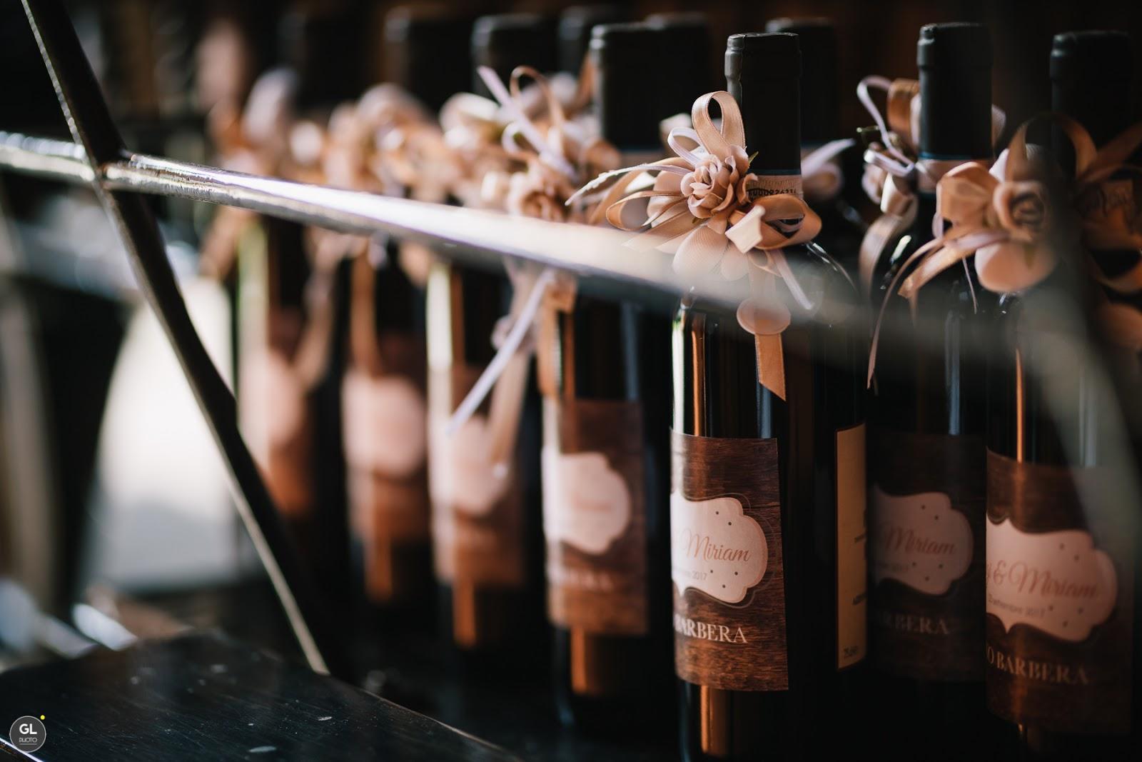 Bomboniere matrimonio vino rosso