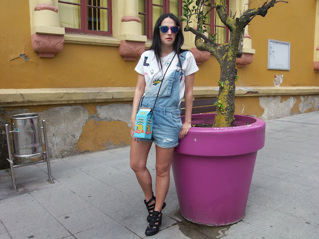 fashion, moda, look, outfit, walking, blog, casual, trendy, cool, overall, dungarees, peto, vaquero