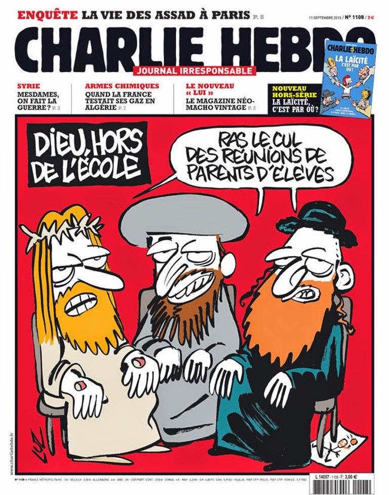 Charlie Hebdo Ausgabe 2013/09/11; Zeichnung: Luz