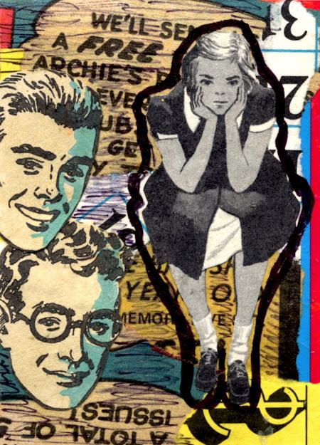 Retro kid collage