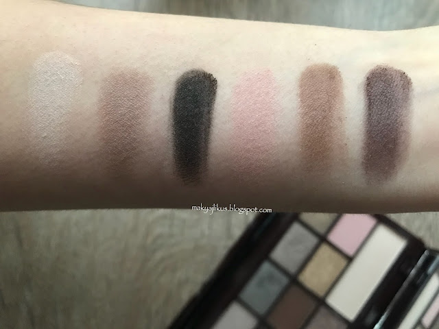 I Heart Makeup Death By Chocolate Eyeshadow Palette Swatch
