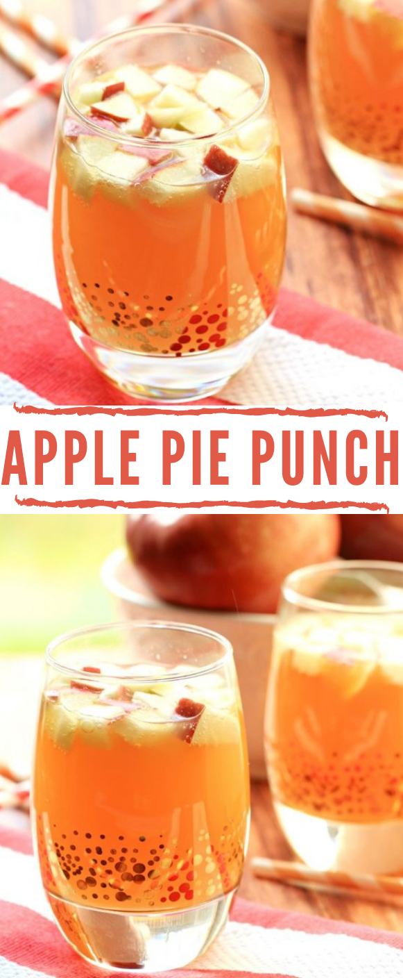 NON ALCOHOLIC APPLE PIE PUNCH #drink #punch #apple #party #drinkkids