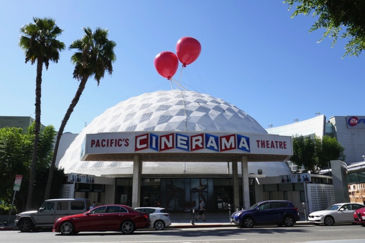 IT Chapter Two Hollywood Cinerama Dome balloon installation
