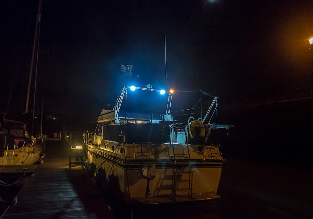 Photo of Ravensdale's new aft deck lights