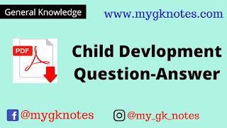 Child Devlopment Question-Answer PDF