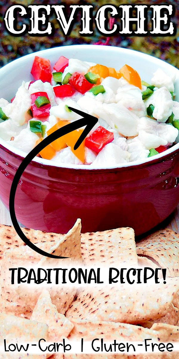Traditional Ceviche - This ceviche recipe, a traditional no-cook summer appetizer, works with any fresh fish fillet with mild flavors, like cod, halibut, or snapper. It is a very simple recipe that is perfect as a flavorful appetizer, or a delicious light, healthy meal! #appetizer #fish #mexican #lowcarb #Keto #glutenfree #easy #recipe | bobbiskozykitchen.com
