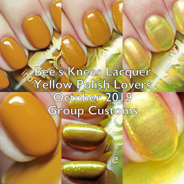 Bee's Knees Lacquer Yellow Polish Lovers October 2019 Group Customs