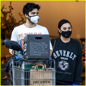 Demi Lovato & Boyfriend Max Ehrich Wear Masks and Gloves While Grocery Shopping in Los Angeles.