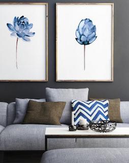 Lukisan hiasan dinding ruang tamu minimalis